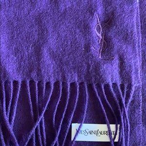YSL cashmere scarf